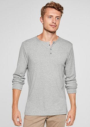 Gemêleerd Henley shirt