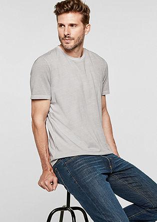 Jersey shirt met garment-dyed effect