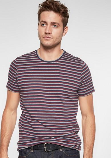 Jerseyshirt im Streifen-Look