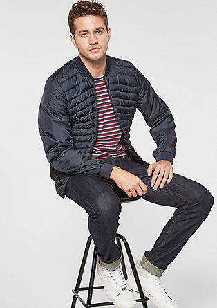 Quilted jacket with softshell insert from s.Oliver