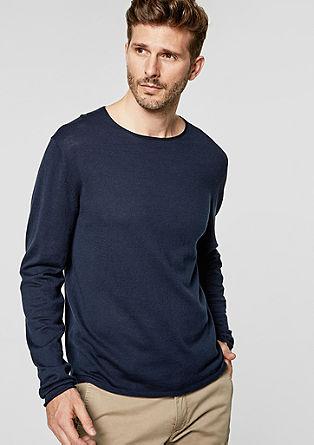 Legerer Feinstrick-Pullover