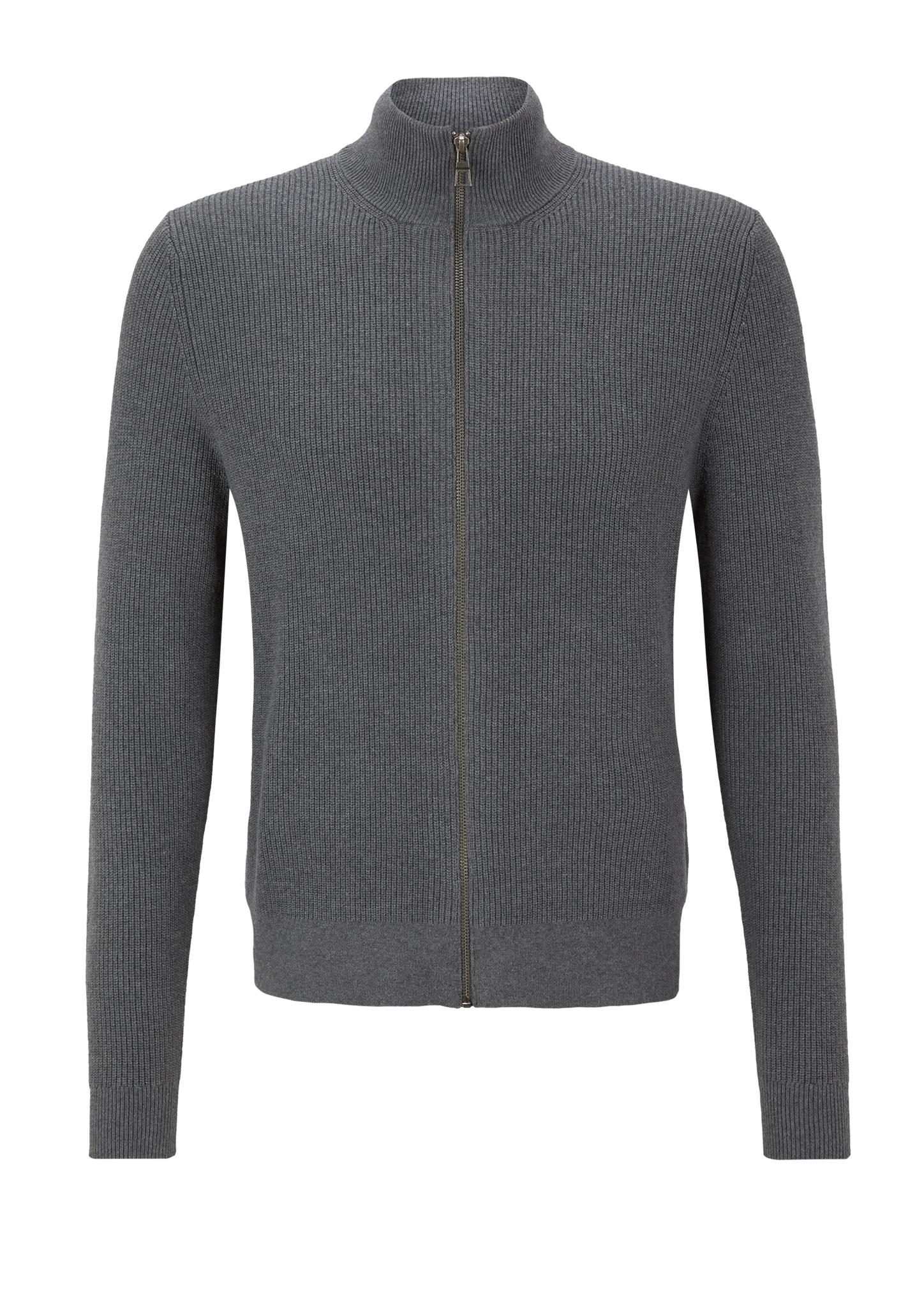 Strickjacke   Bekleidung > Strickjacken & Cardigans > Strickjacken   Grau   80% baumwolle -  20% modal   s.Oliver BLACK LABEL