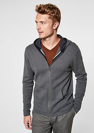Cardigan with zip and hood from s.Oliver