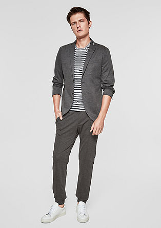 Levio Slim: jersey trousers with pressed pleats from s.Oliver