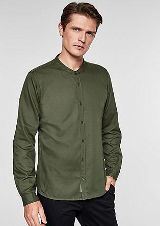 Slim: overhemd met opstaande kraag