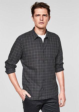 Slim: košile skárovaným vzorem