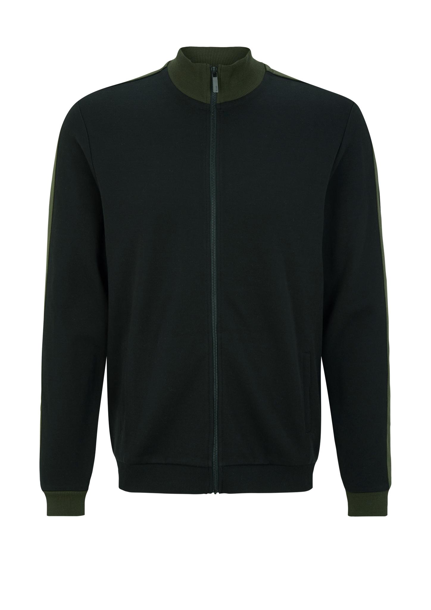 Sweatjacke   Bekleidung > Sweatshirts & -jacken > Sweatjacken   Grau/schwarz   92% baumwolle -  8% polyester   s.Oliver BLACK LABEL
