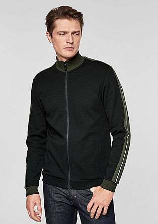 Sweatshirt jacket with contrasting stripes from s.Oliver