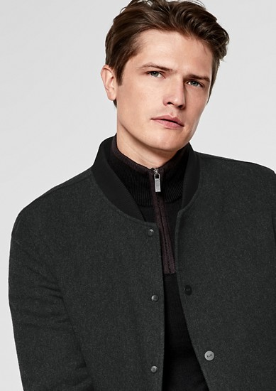 Lined bomber jacket with new wool from s.Oliver