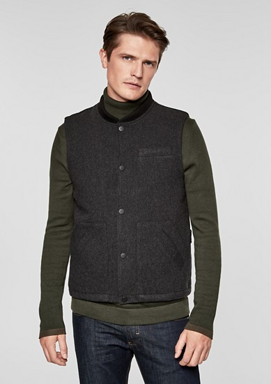 Padded wool gilet from s.Oliver