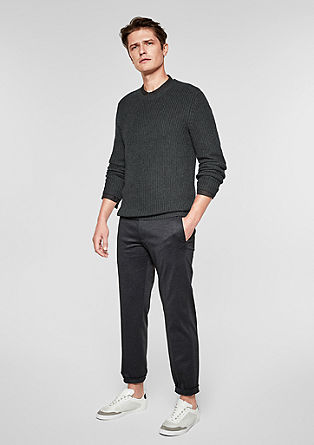 Textured knit jumper in a wool blend from s.Oliver