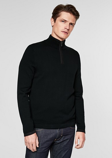 Zip-neck jumper from s.Oliver