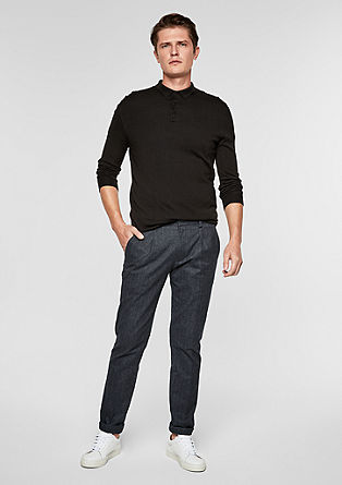 Slim: Woven trousers made of fine flannel from s.Oliver