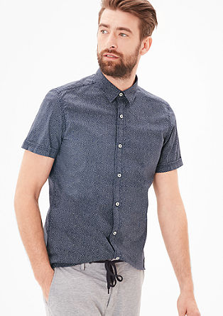 Slim: patterned short sleeve shirt from s.Oliver