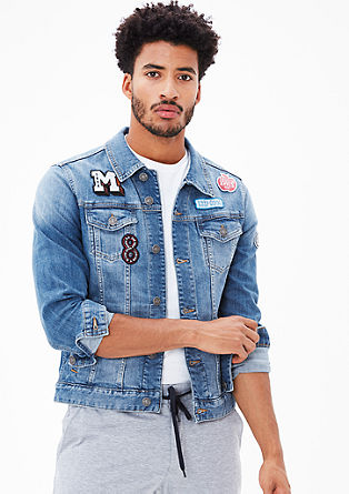 Denim jacket with patches from s.Oliver