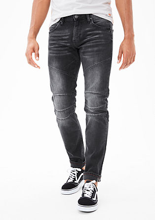 Close Slim: biker-style jeans from s.Oliver