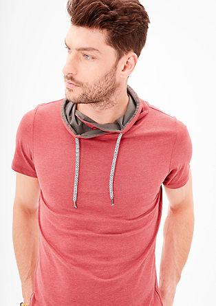 Slim: T-Shirt mit Schalkragen