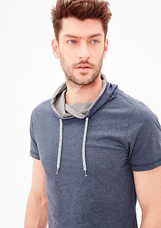 Slim: T-shirt with a shawl collar from s.Oliver