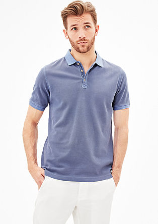 Slim: Polo shirt with texture from s.Oliver