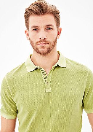 Slim: Poloshirt mit Struktur