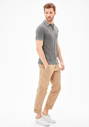 Slim: Poloshirt mit Musterprint