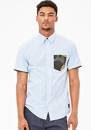 Slim: Short sleeve shirt with contrasts from s.Oliver