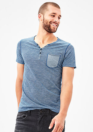 Finely striped Henley T-shirt from s.Oliver