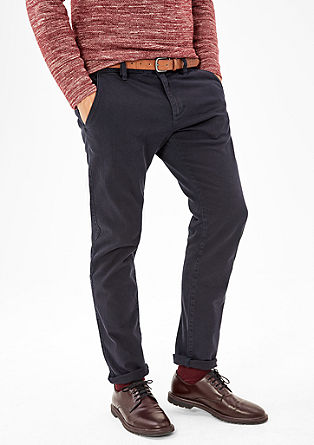Sneck Slim: chinos with a woven pattern from s.Oliver