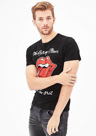 Slim: Rocker band T-shirt from s.Oliver