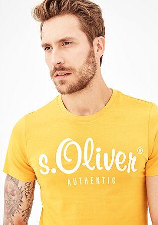 Basic-Shirt mit Label-Print