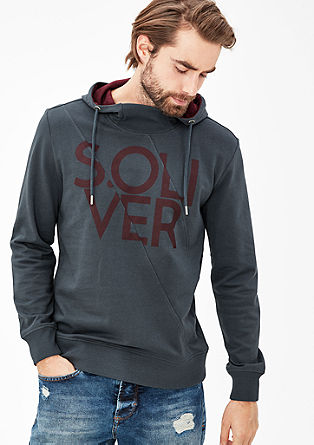 Hoodie with sporty seams from s.Oliver