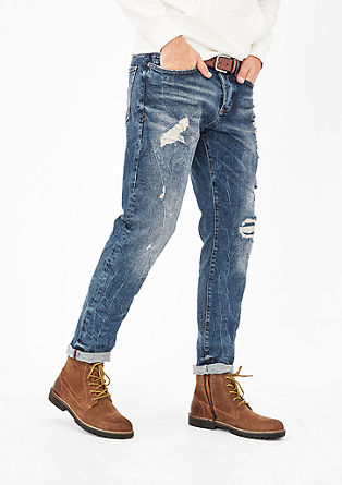 Tubx Straight: Jeans mit Destroyes