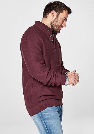 Pulover s stoječim ovratnikom