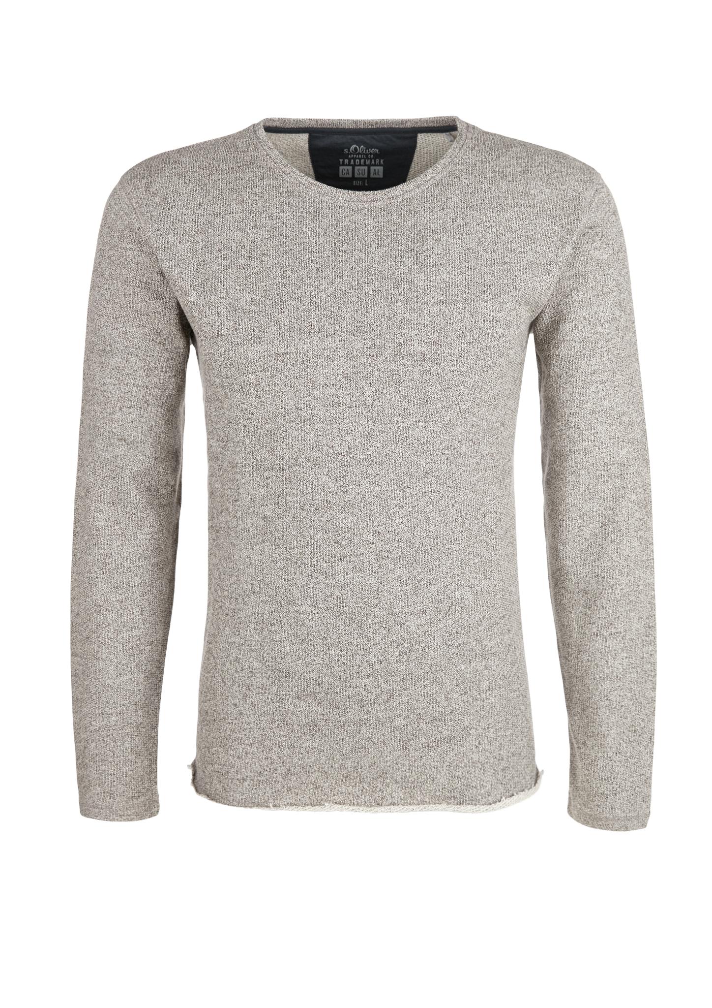 Langarmshirt   Bekleidung > Shirts > Langarm Shirts   Grau/schwarz   100% baumwolle   s.Oliver