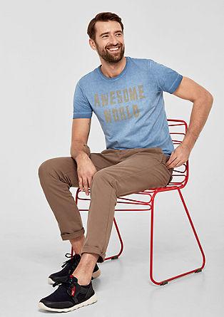 Statement-Shirt mit Wascheffekt