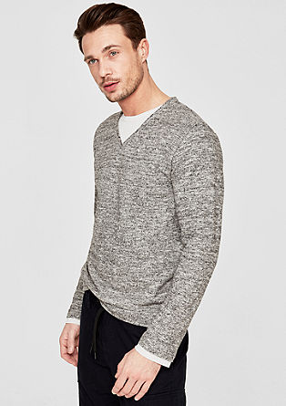 Layer-look sweatshirt from s.Oliver
