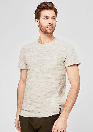 T-shirt chiné en fil flammé de s.Oliver