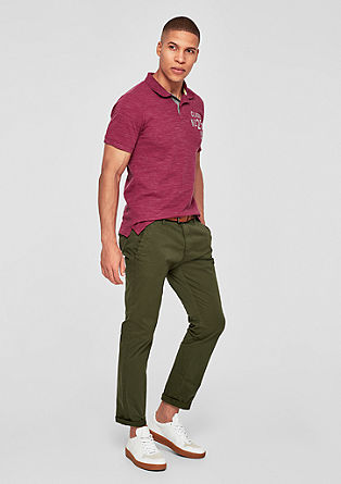 Sneck Slim: twill trousers with a belt from s.Oliver