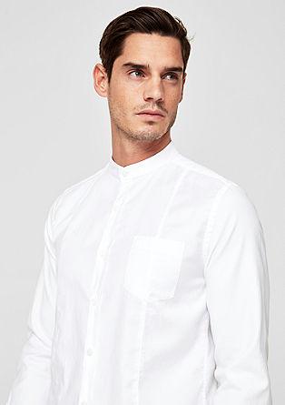Slim: overhemd met een staande kraag