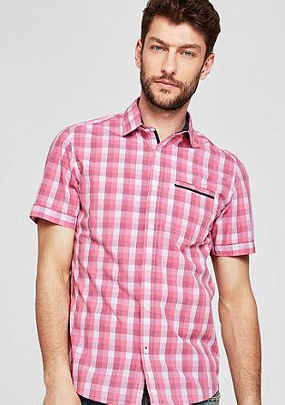 Slim: Karirasta srajca kratek rokav