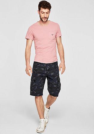 Slim: T-Shirt mit Pilling-Effekt