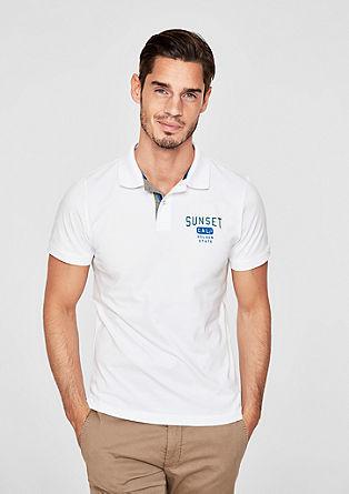 Slim: polo majica z vezenino