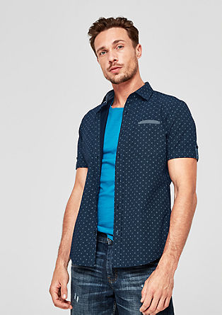 Slim: shirt with a minimalist pattern from s.Oliver