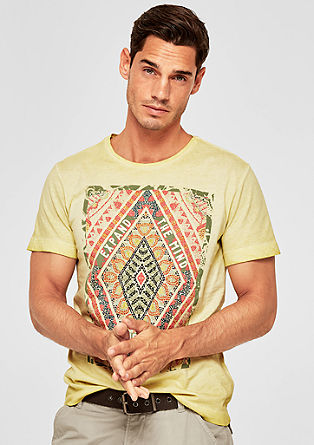 T-shirt with a colourful front print from s.Oliver
