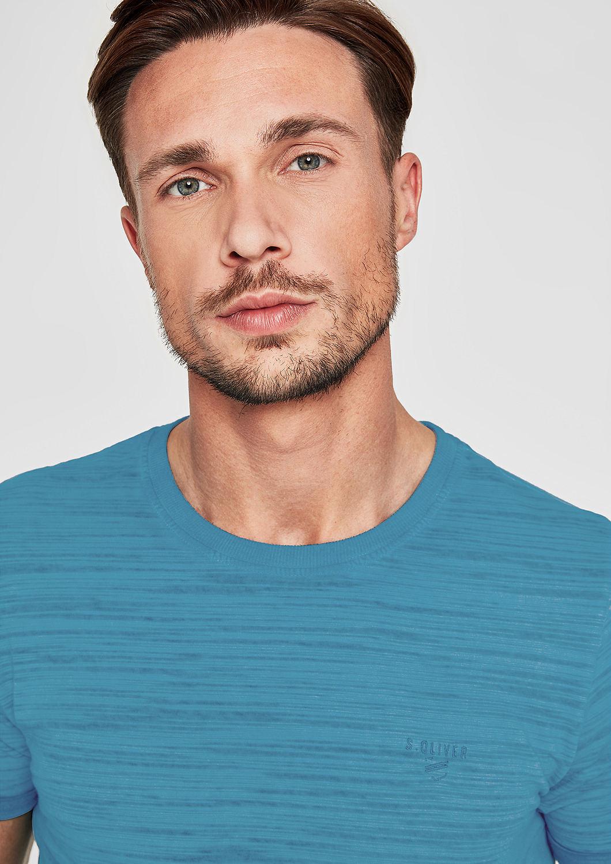 s.Oliver - Slim: Lässiges Slub Yarn-Shirt - 1