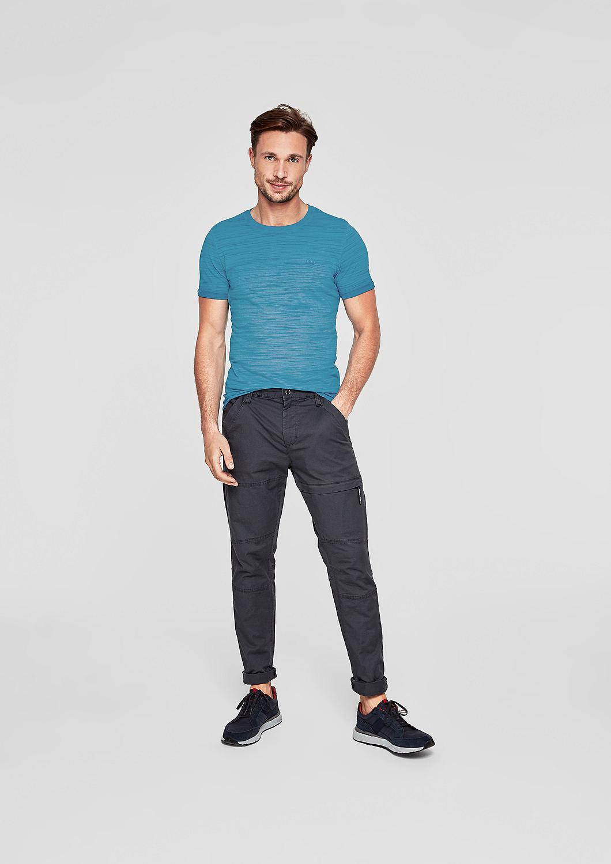 s.Oliver - Slim: Lässiges Slub Yarn-Shirt - 2