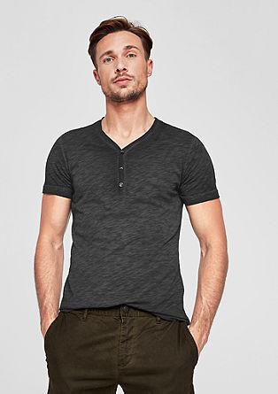 Slim: T-shirt met slubstructuur