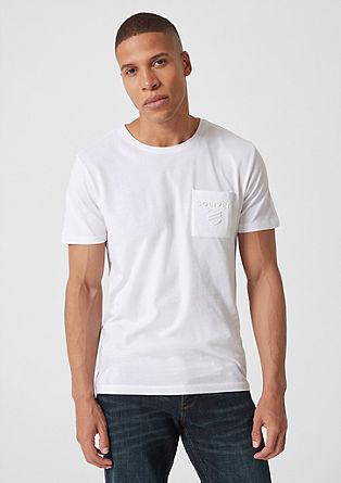 T-Shirt mit Label-Prägung
