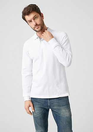Cotton piqué long sleeve polo shirt from s.Oliver