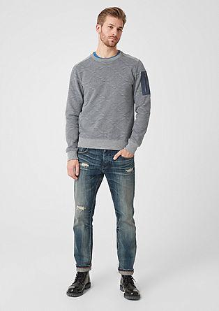 Sweat-shirt à motif à losanges de s.Oliver